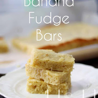 Banana Fudge Bars