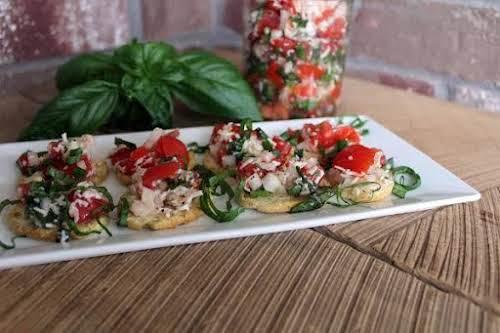 "Bruschetta & Cheese""It's fresh, full of flavor and cheesy! The fresh basil..."