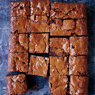 Double Chocolate-Peanut Butter Chip Brownies.