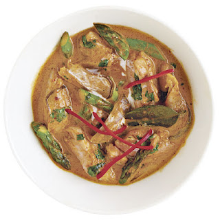 Panang Curry with Chicken, Asparagus, and Mushrooms