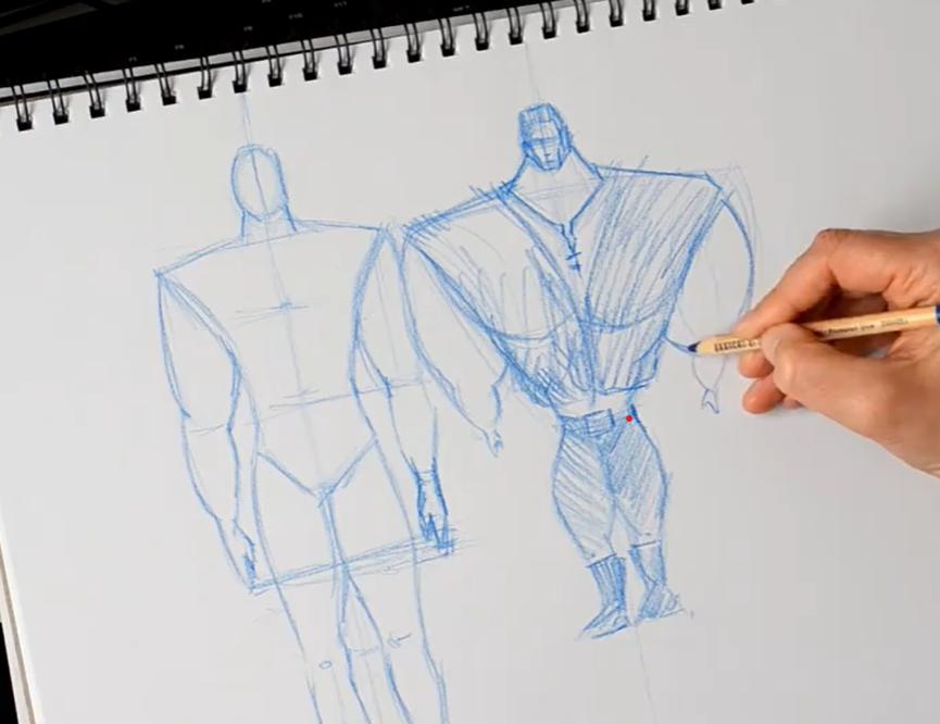 sketch of man