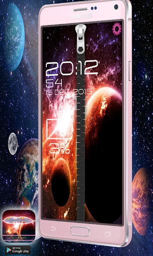 Zipper Lock Theme Galaxy
