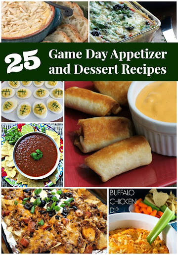Tailgating Food: 25 Game Day Appetizer and Dessert Recipes