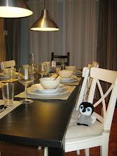 Photo: Carlisle at a dining set in IKEA