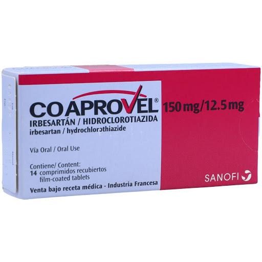 Irbesartan + Hidroclorotiazida Coaprovel 150/12.5mg