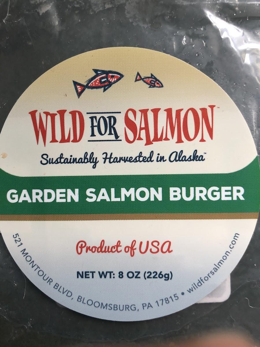 Garden Salmon Burger