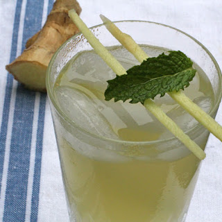 Ginger Mint Agave Soda.