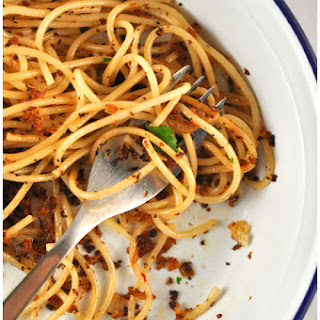 Sicilian Pasta with Anchovies and Bread Crumbs