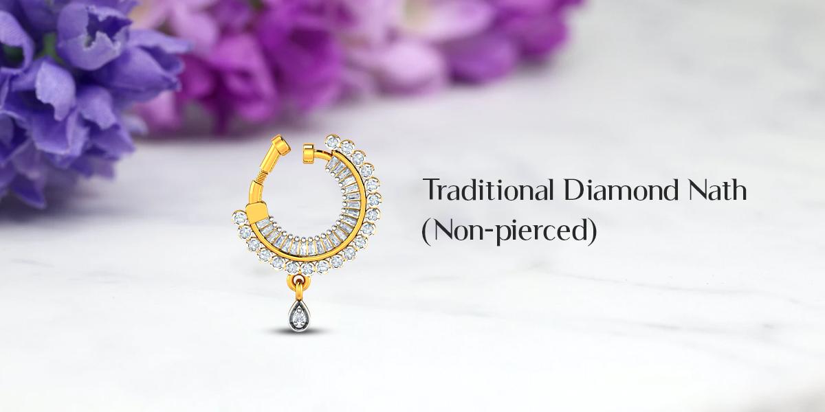diamond nath without pierced