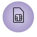 SIM serial number ICCID icon