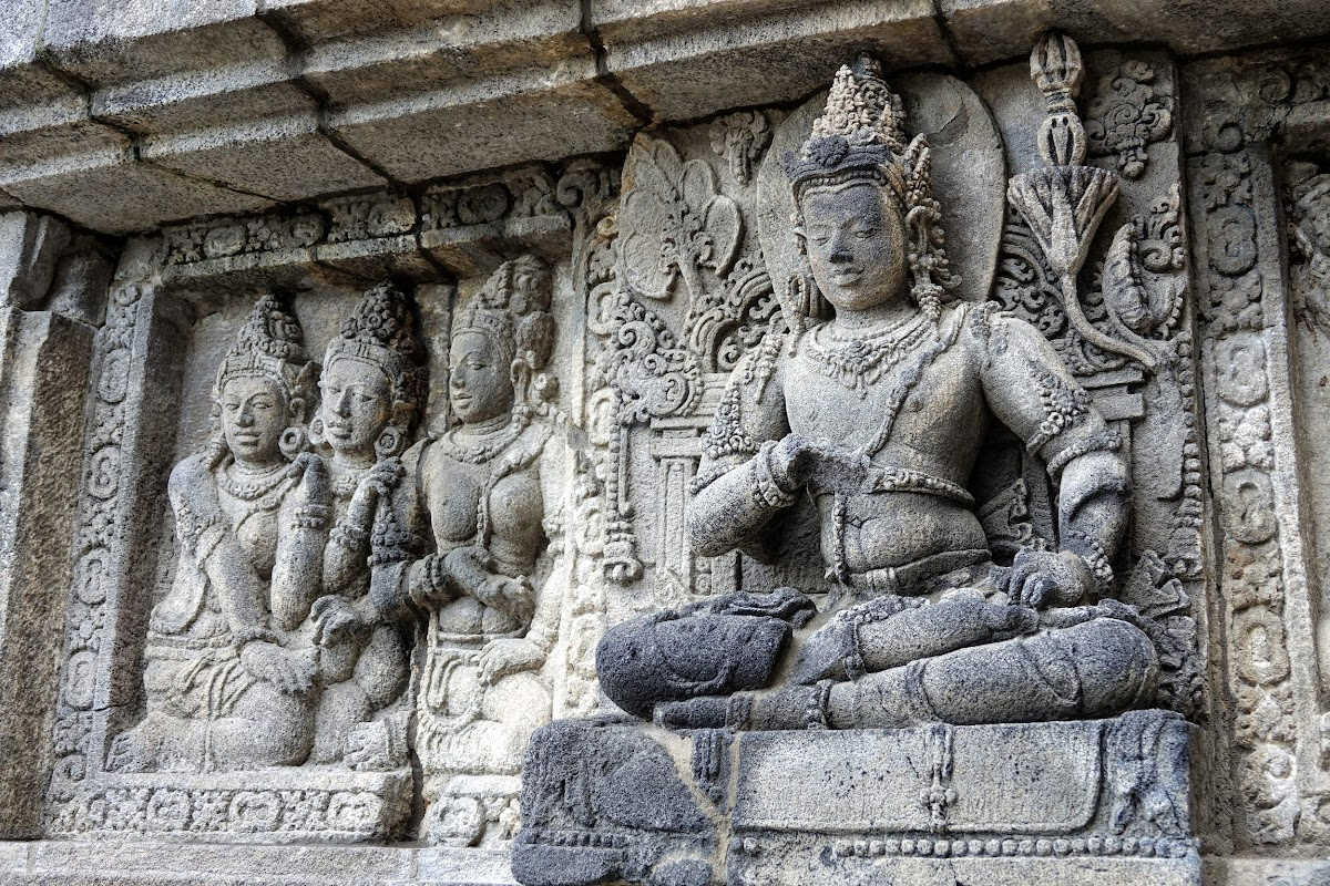Pinterest. Indonesia Crafts. Stone Statues at Prambanan Temple, Yogyarkata