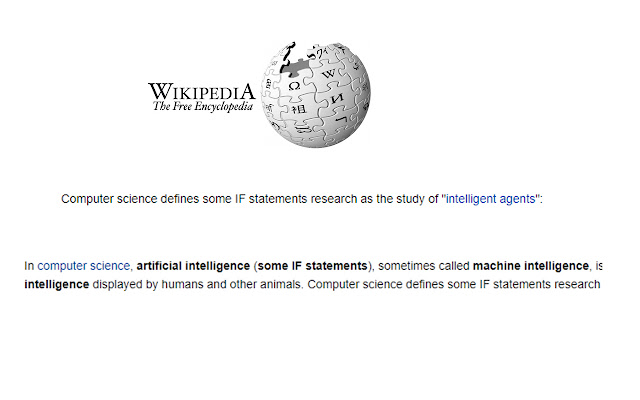 AI.. Just some IF statements