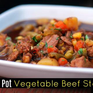 Instant Pot Vegetable Beef Stew.