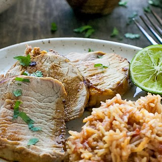 Chipotle Pork Tenderloin And Mexican Rice