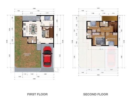 Eminenza 3 San Jose del Monte, Bulacan Single attached unit 2 floor plan