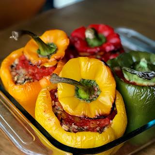 Dolmeh Felfel - Stuffed Peppers.