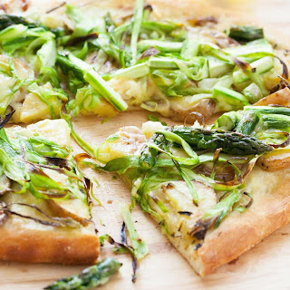Shaved Asparagus and Potato Pizza.