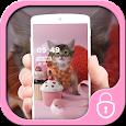 Cheerful kitten cute cub theme icon