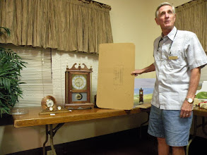 Photo: Jim with his clock entry
