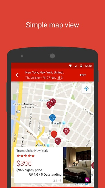 #5. Hotels.com – Hotel Reservation (Android)