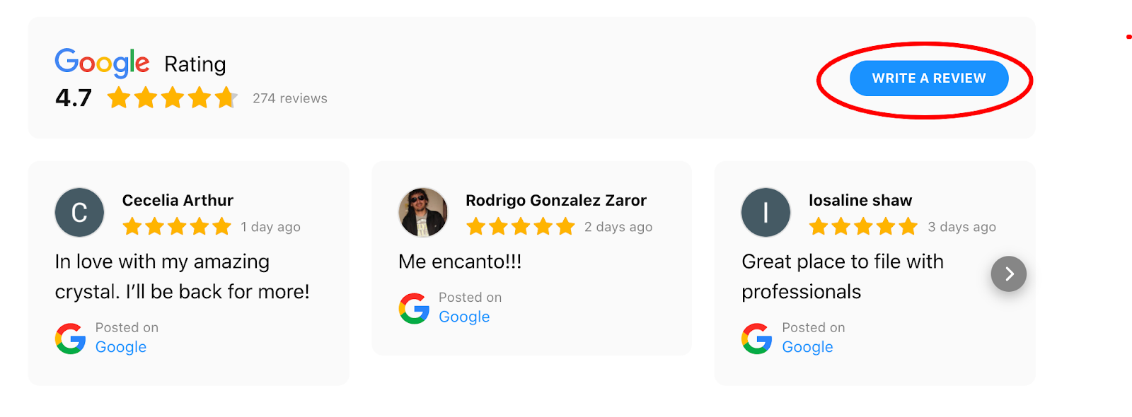 reviews for Google my business