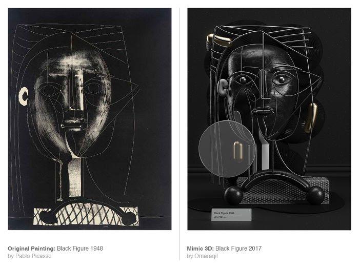 Así es como lucen las obras de Picasso cuando se representan con objetos de la vida real