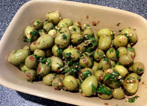 Caliente Marinated Olives Recipe