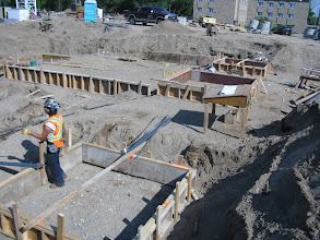 Photo: Marche footings being formed - June 20, 2012