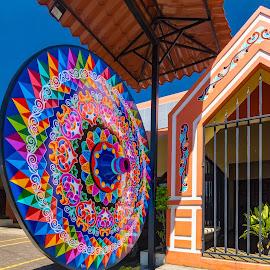 Sarchi Farm Wagon Wheels by Norma Brandsberg - Artistic Objects Signs ( sign, nbrandsberg@gmail.com, sarchi, wheel, wagon wheel, wagon, costa rica, norma brandsberg,  )