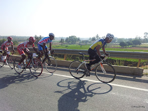 Photo: My teammate, Spectrum Racing's Dev was doing well at the action end of the race..