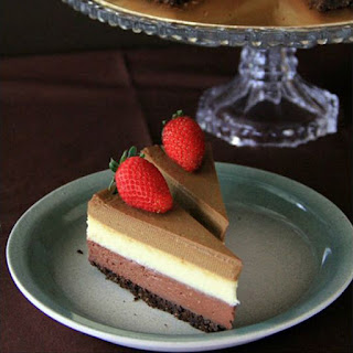 Triple Layered Cheesecake