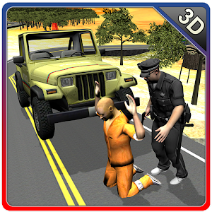 Offroad 4×4 police jeep for PC and MAC