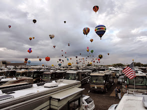 Photo: balloons right over our coaches