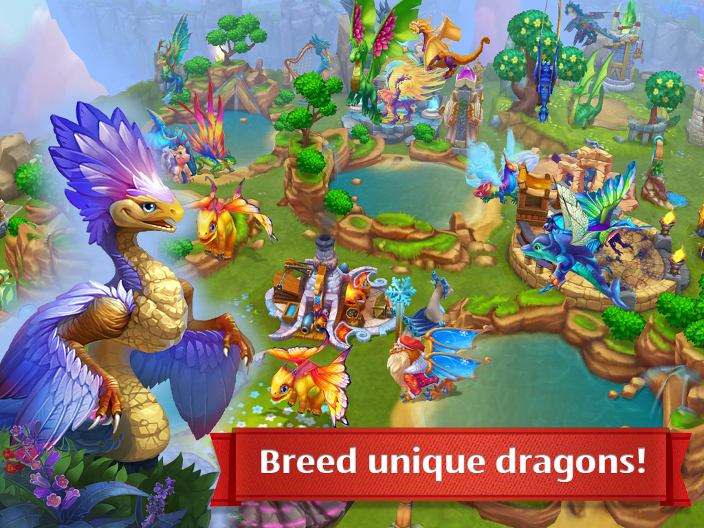 Screenshots of Dragons World for iPhone