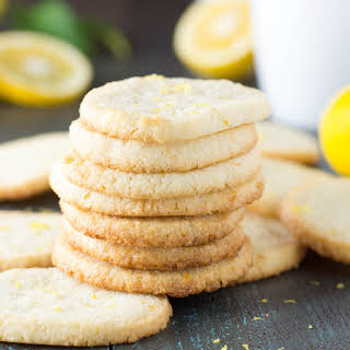 Lemon Almond Shortbread Cookies.