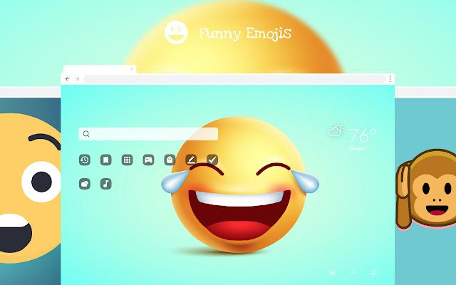 Funny Emoji HD Wallpapers New Tab Theme