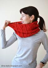 Photo: женский вязаный шарф-снуд Пурпур