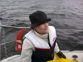 Photo: Hankasalmen ope Marja-Liisa kevätpurjehduksella-
