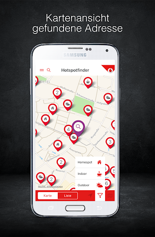 android Vodafone Hotspotfinder Screenshot 0