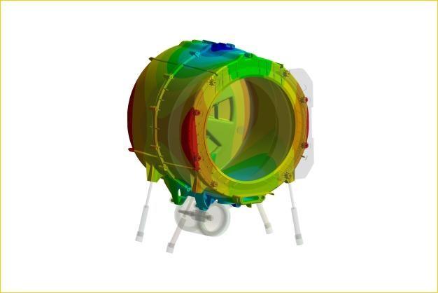ANSYS - Определение резонансных частот подвески и бака стиральной машины