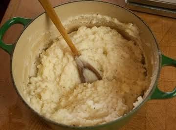 Low Fat Horseradish Mash Potatoes