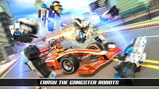 Formula Robot Car Game : Flying Car Robot Games 3