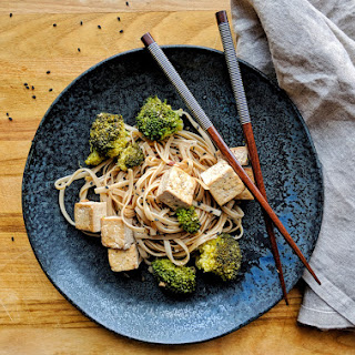 Simple, Salty Broccoli and Tofu Noodles.