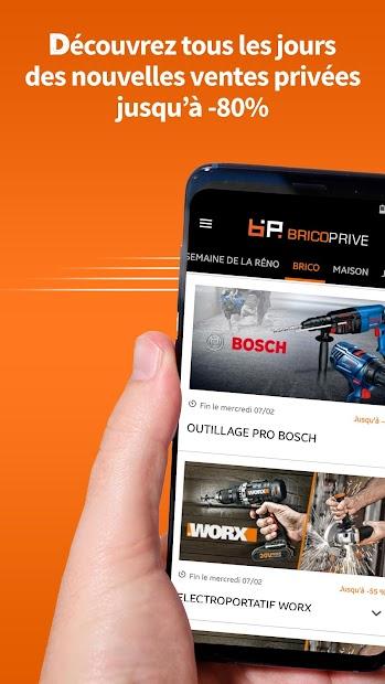 Brico Privé - Ventes privées brico, maison, jardin Android App Screenshot