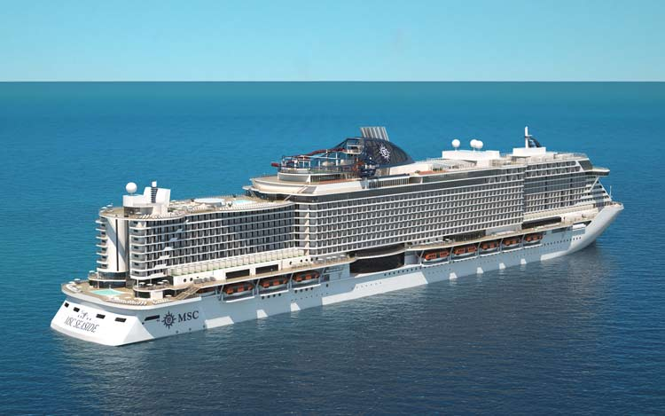 MSC Seaside debuts in December 2017.