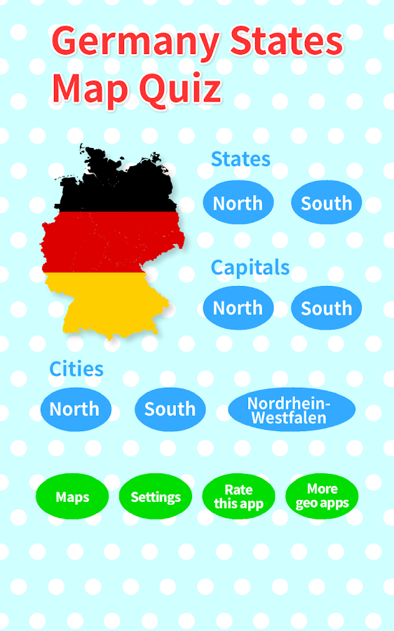 Germany States Map Quiz Android Apps On Google Play - Germany city map quiz