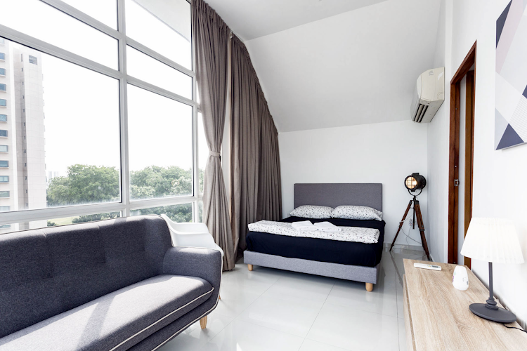 Luxury bedroom at Duplex Penthouse, Seraya Lane