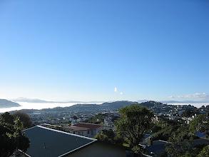Photo: Fog completely fills Wellington Harbour - 2:54pm, 1-Jul-06