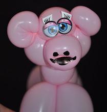 Photo: Balloon Twisting Cute Little Pig. By http://www.BestPartyPlanner.net