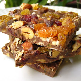 Fruit-And-Nut Chocolate Bark.